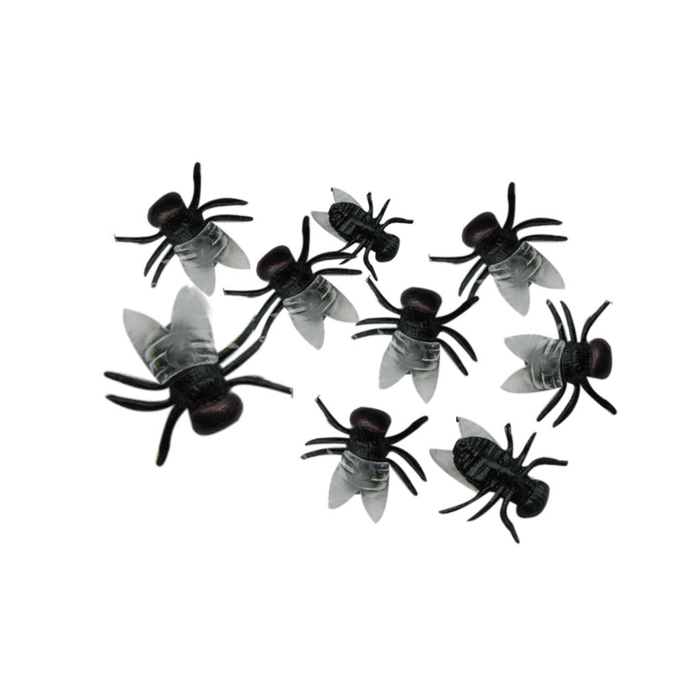 NEW  20 PC Halloween Plastic Flys Joking Toys Decoration Realistic SEP 14