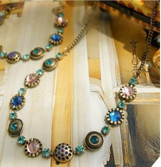 2015 Hot Trend fashion rhinestone chain necklace for women #00100