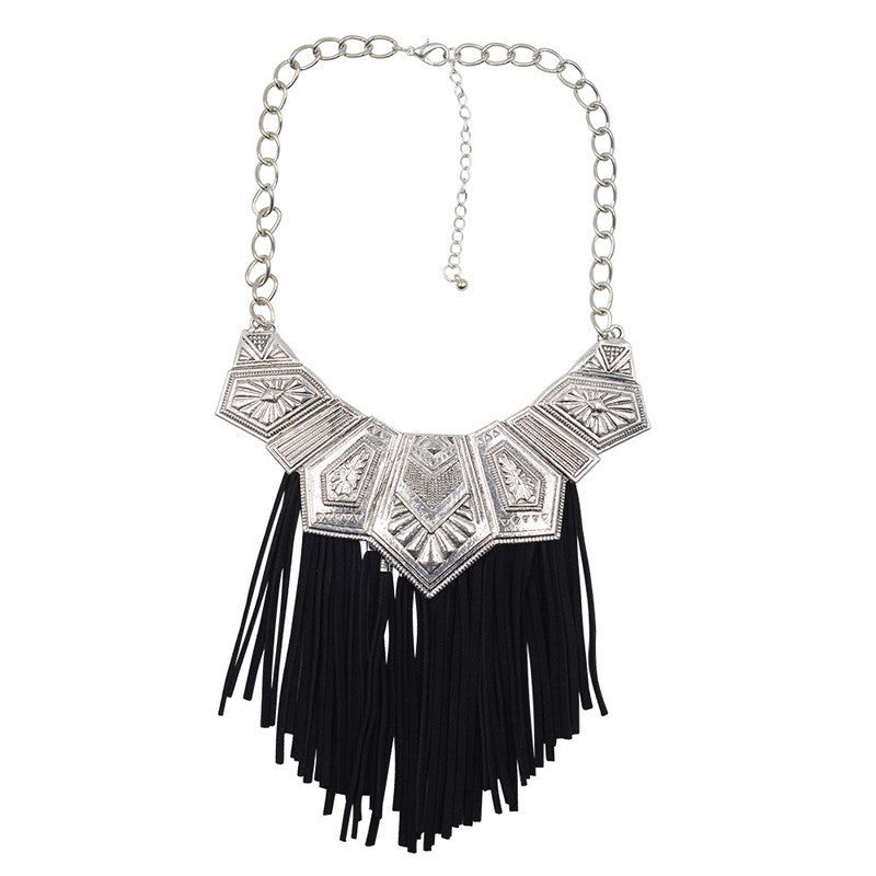 2016 Bohemia Jewelry Necklace New Fashion Choker Chain Collar Leather rope Tassel Necklace & Pendant Statement Necklace Women