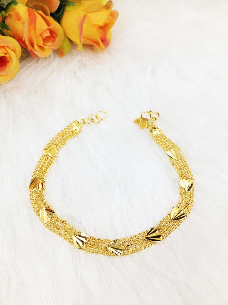 2016 Fashion Jewelry never fade gold plated heart charm bracelets & bangles high quality women jewelry party accessories