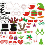 50Pcs Photo Booth Props Photocall Decorations Christmas Decoration Supplies