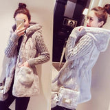 Fashion knitted warm jacket women cardigan women jacket wiinter coat spring split fur thick coat Female cardigan autumn poncho