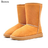 2016New fashion women shoes winter warm flat 25 cm Height solid women snow boots 7 colors warm boots with fur girls snow shoes