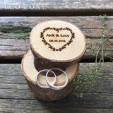 Personalized Wood Wedding Ring Box Custom Decor Mariage Decorations Wedding Decoration Event Party Supplies coussin alliance