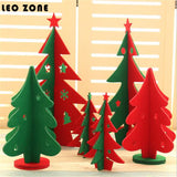 10pcs Nonwoven Desktop Mini Christmas Tree Christmas Decorations For Home Christmas Decoration Supplies navidad