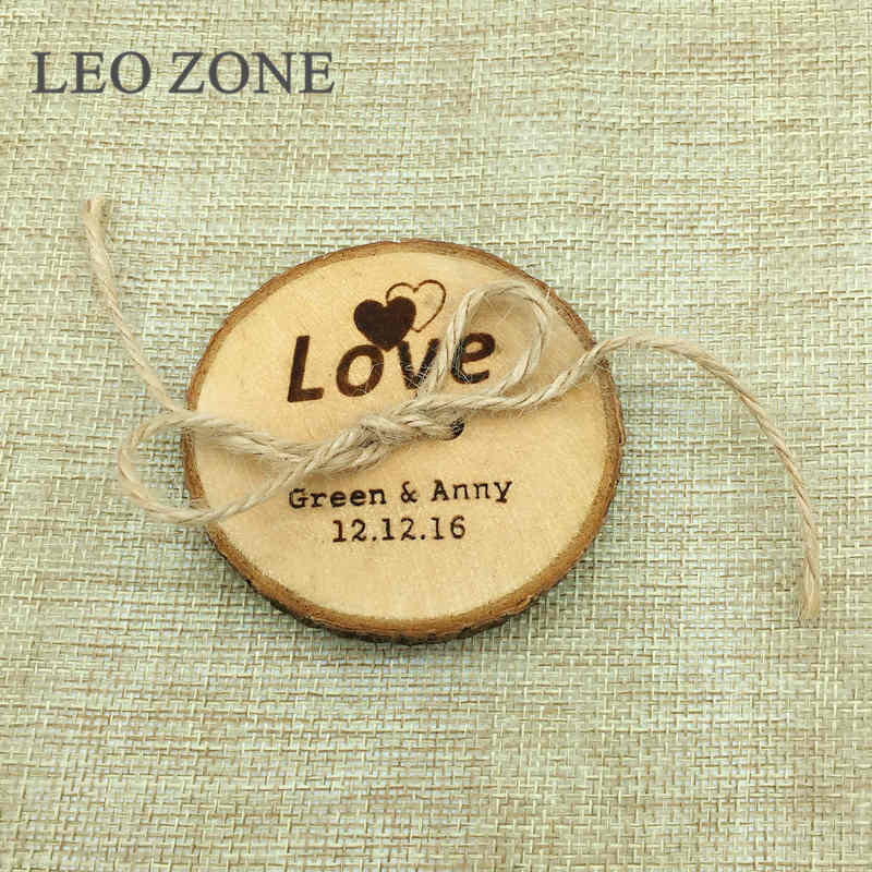Personalized Wood Wedding Ring Pillow Custom Decor Mariage Decorations Wedding Decoration Event Party Supplies coussin alliance