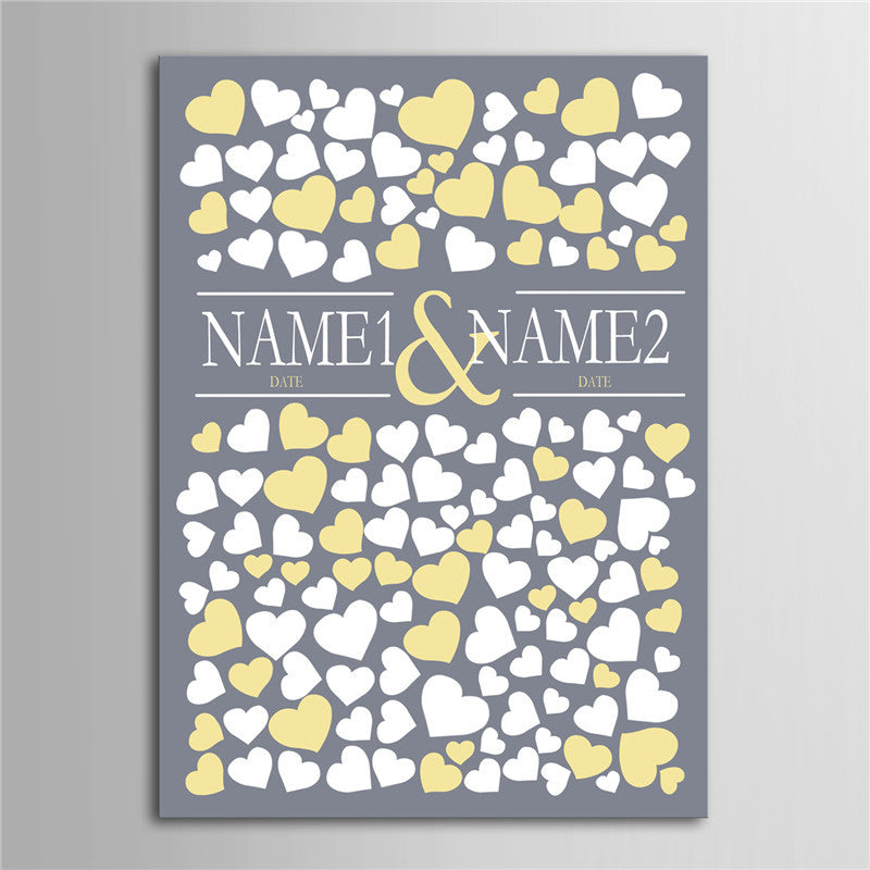 Personalized Canvas Wedding Guest Book Wedding Decor Decorations Mariage Decoration Event Party Supplies Boda