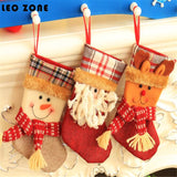 3PCS Christmas Stocking Gift Holder Christmas Decorations For Home Christmas Tree Ornament Christmas Decoration Supplies navidad