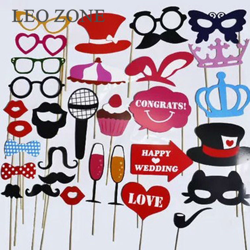31Pcs Photo Booth Props Photocall Decoration Mariage Photobooth Birthday Wedding Decorations Graduation Event Party Supplies