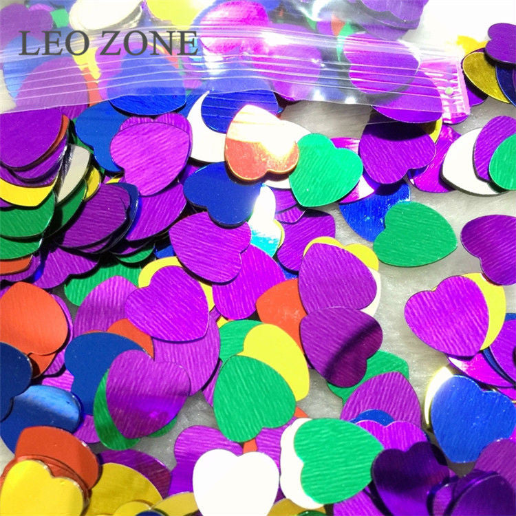 1000 Pcs10mm Table Decoration Colorful Shine Romantic Love Heart Confetti Mariage Party Wedding Decorations Event Party Supplies