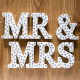 3Pcs Mr & Mrs With Diamond Wood Letters Wedding Sign Mariage Decorations Wedding Decoration Event Party Supplies decoracion boda