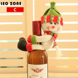 2pcs Red Wine Champagne Bottle Hug Christmas Decorations For Home Christmas Gifts Christmas Decoration Supplies navidad