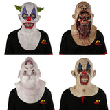 X-MERRY Halloween Scary Latex Mask Movie Full Head Horror Costume Mask Clown Mask Theater Prop