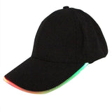 New Adult Men And Women Cotton Black Shining LED Light Baseball Cap Stage Performance Snapback Hats Adjustable