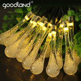 Goodland High Bright Fairy Lights 6M Solar LED String Light Waterproof Outdoor Lighting Strings Party Decoration For Christmas