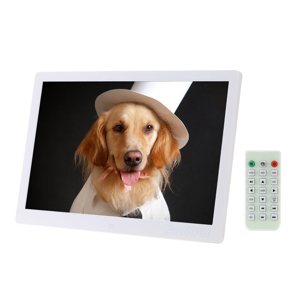 "15.6"" LED Digital Photo Frame 1280*800 High Resolution With Alarm Clock MP3 MP4 Movie Player with Remote Control Christmas Gift"