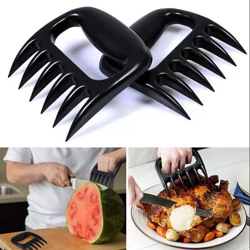 1Pcs Bear Paws Claws Grizzly Claws Meat Handler Fork Tongs Pull Shred Pork BBQ Barbecue Tool Forks Food Picks Bento Accessories