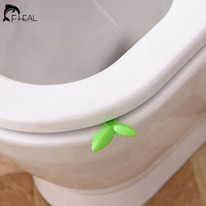 Creative Cute Portable Leaf Shape Toilet Seat Handle Seat Cover Lifter Avoid Touching Clean Style Uncovery Flip Lid Toilet Cover
