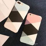 Fashion Geometric Graphic Pattern Case For iphone 7 Case For iphone7 6 6S PLus Phone Cases Colorful Abstract Triangle Back Cover