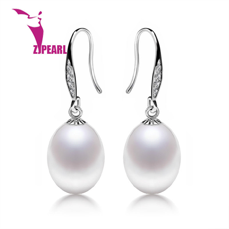 2016 New Natural Freshwater Pearl Stud Earrings With 925 Sterling Silver  Fashion Fresh Pearl Jewelry For Women  Angle Tears