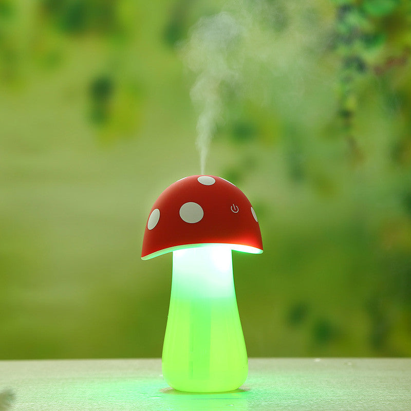 Ultrasonic Humidifier USB Mushroom Cool Mist Aroma LED Night Light Mist Discharge Cute Air Diffuser Atomizer for Home