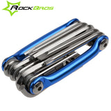 ROCKBROS Mini Repair Pocket Folding Tool 11 in 1 Bicycle Moutain Road Bike Tool Set Cycling Multi Repair Tools Kit Wrench