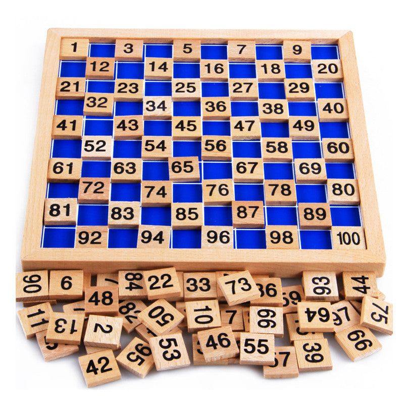 Kids Montessori Teaching Aids Mathematics 1 - 100 Counting Wooden Digital Board Plate Toy Montessori Educational Toy