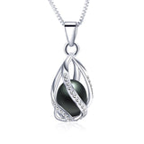 2017 New fashion genuine freshwater pearl pendant necklace for women 925 Sterling Silver jewelry wholesale price