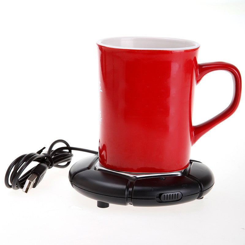 Colorful Portable USB Electronics Gadget Novelty Item Powered Cup Mug Warmer Coffee Tea Drink USB Heater Tray Pad Free Shipping