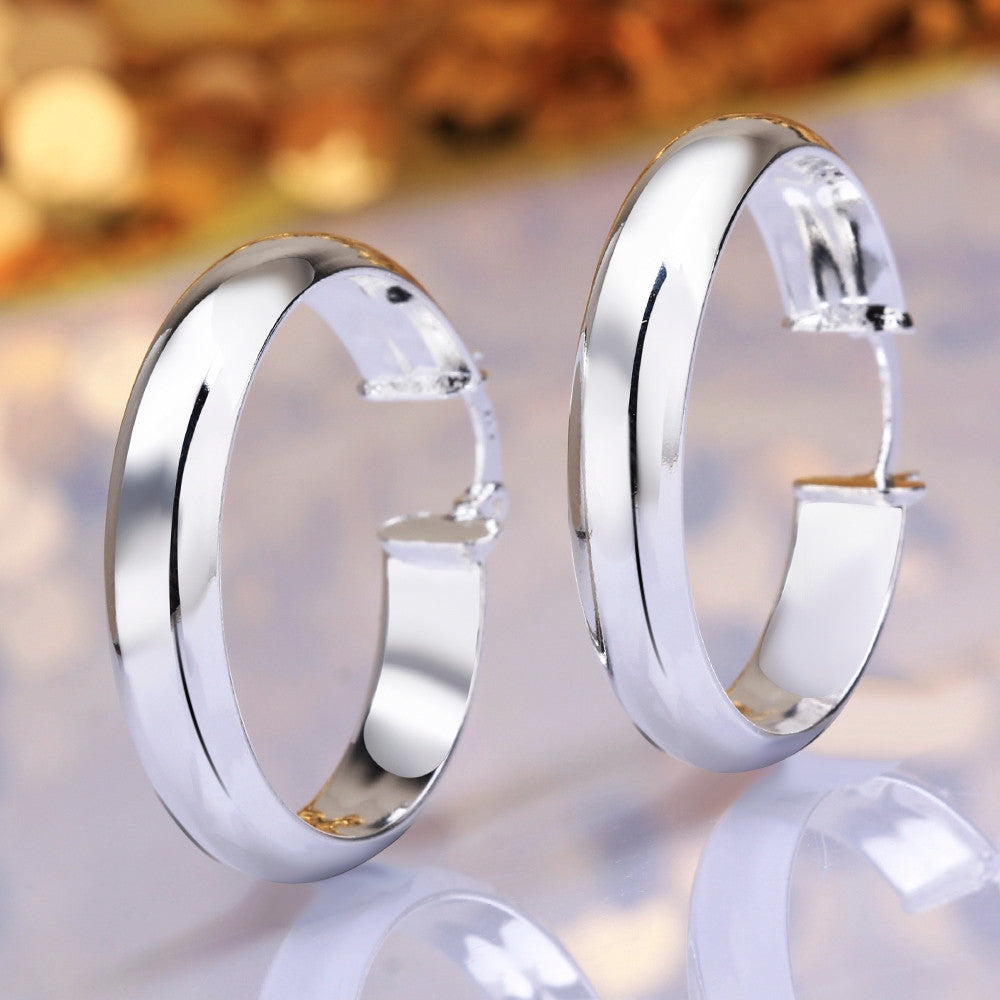 high quality free shipping 925 sterling silver earrings fashion  jewelry earrings beautiful Round Earrings
