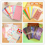 5 pcs/bag New Cute Cartoon Kawaii Paper Colorful Dot Star Envelope for Gift Card Baby Korean Stationery  Free shipping 808