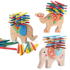 2017 New Elephant/Camel Balance Wood Toy for Children Wooden Blocks Toys Game For Children Montessori toys