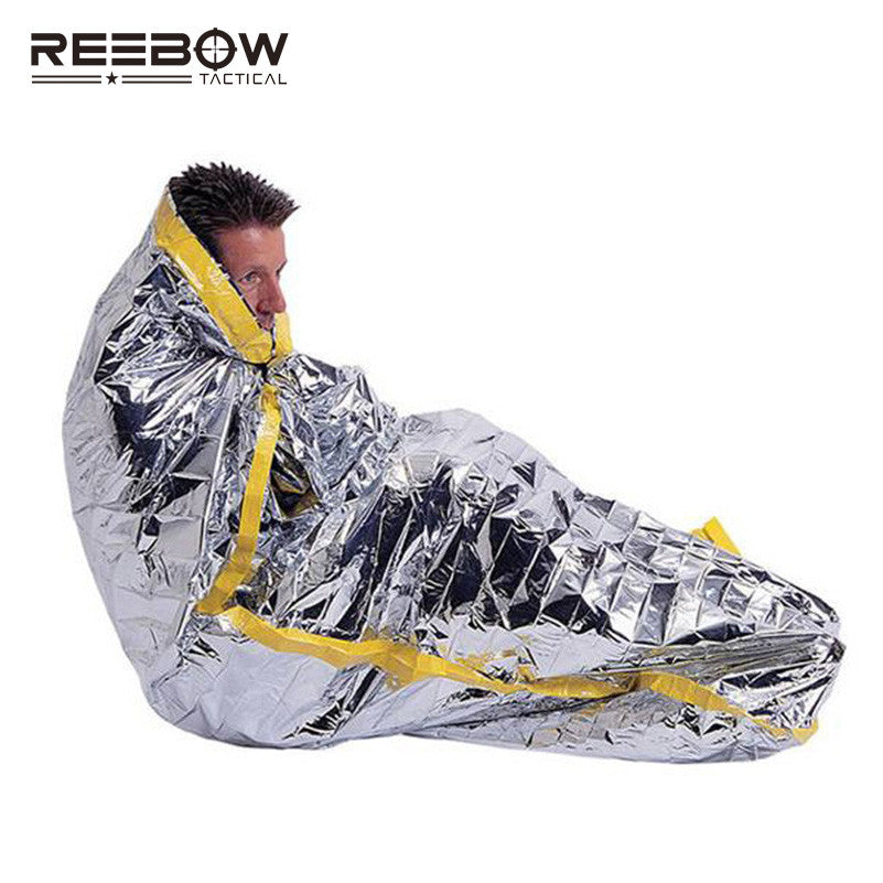 Plus Size Survival Emergency Tent Recycling Aluminum Film First Aid Rescue Shelter Spring Summer Life Saving Kit