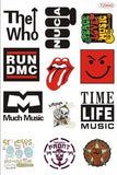 Pop Rock Music Band Logo PVC Waterproof  sticker bomb Luggage Suitcases Guitar Skateboard laptop stickers Car Styling