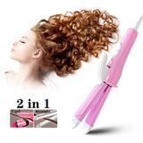 25W 2In1 Multifunctional Hair Straightener Iron Electric Hair Curler Curling Iron Portable Fast Hair Straightener Flat Hair Tool