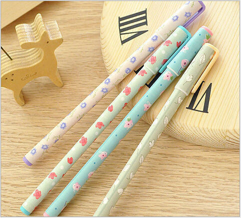 2pcs/ lot FRESH Flowers Story series Ballpoint pen/Good quality/School supplies/ stationery/papelaria WJ0086
