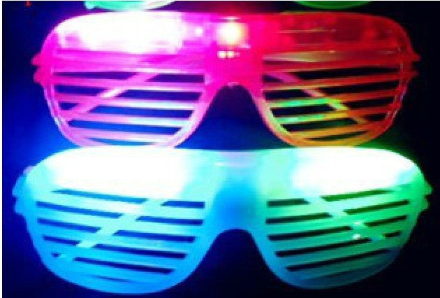 10pcs/lot Hot Sale Flashing Party LED Light Glasses for christmas Birthday Halloween party decoration supplies glow glasses