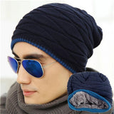 2016 New Brand Male Skullies Unisex Beanies Knit Beani Hat Winter Head Hats Women Solid Hip-Hop Cap Gorro Warm Free Size M053