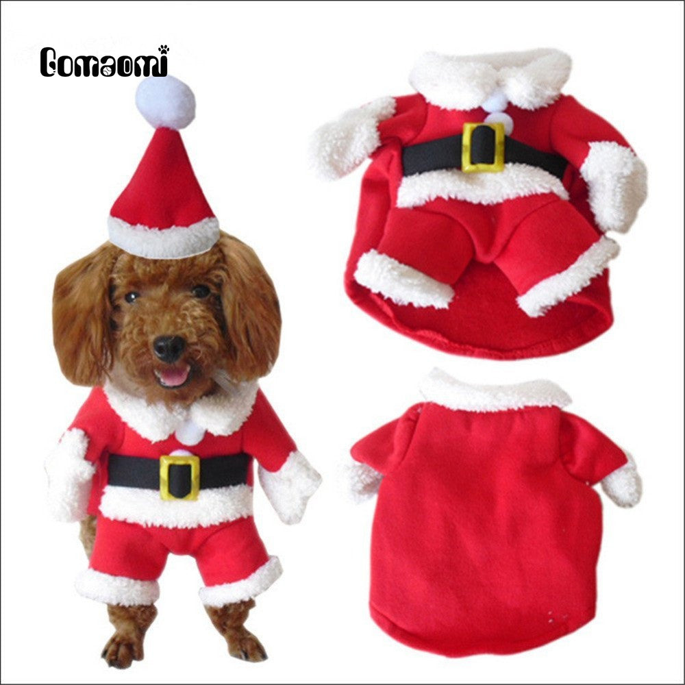 Gomaomi Pet Christmas Costumes Dog Clothes Hoodie Suit with Cap