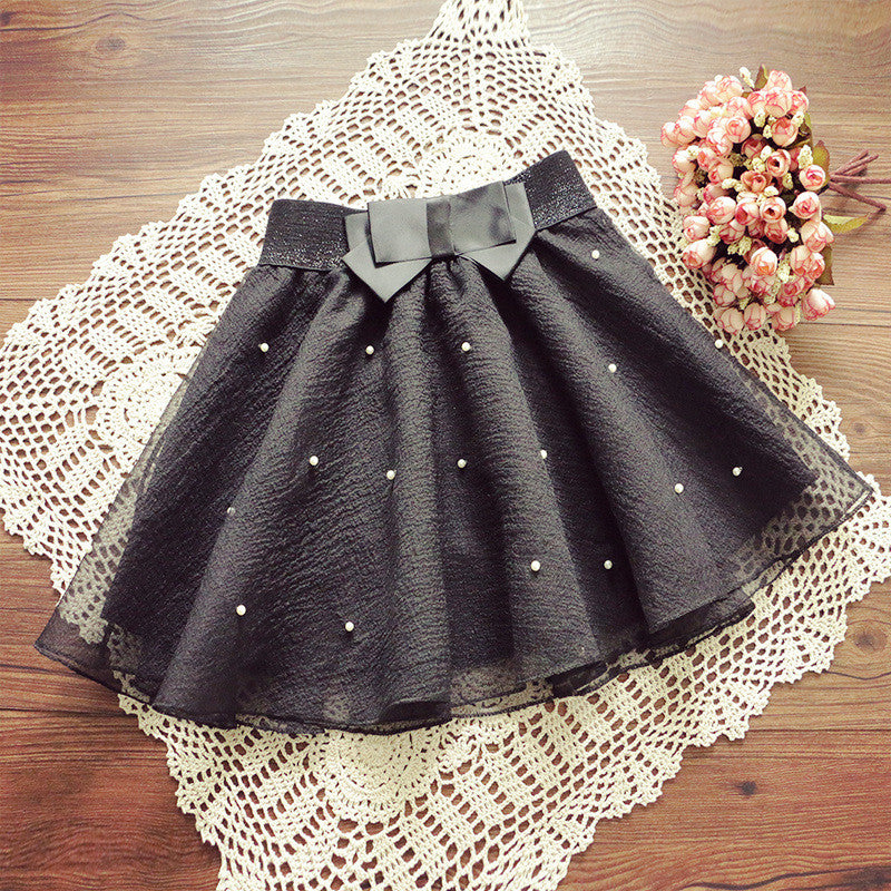 2016 New Women Tutu Pleated Organza Bow Knot Umbrella Skirt Bust Lei Mesh Gauze Mini Tulle White Black Skirts