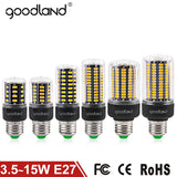 Goodland E27 LED Lamp SMD 5736 LED Corn Bulb 3.5W 5W 7W 9W 12W 15W LED Corn Light AC 85V-265V No Flicker Chandelier Light