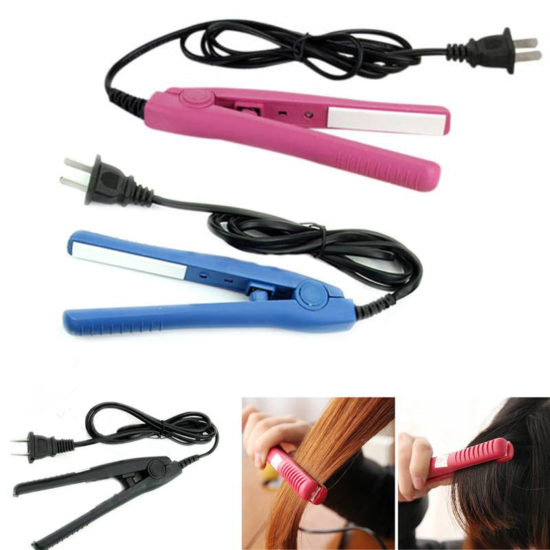 1PC Mini ion Ceramic Electronic Hair Straighteners 2 in 1 Dry Wet Straightening Irons professional Curler Styling Tools US Plug
