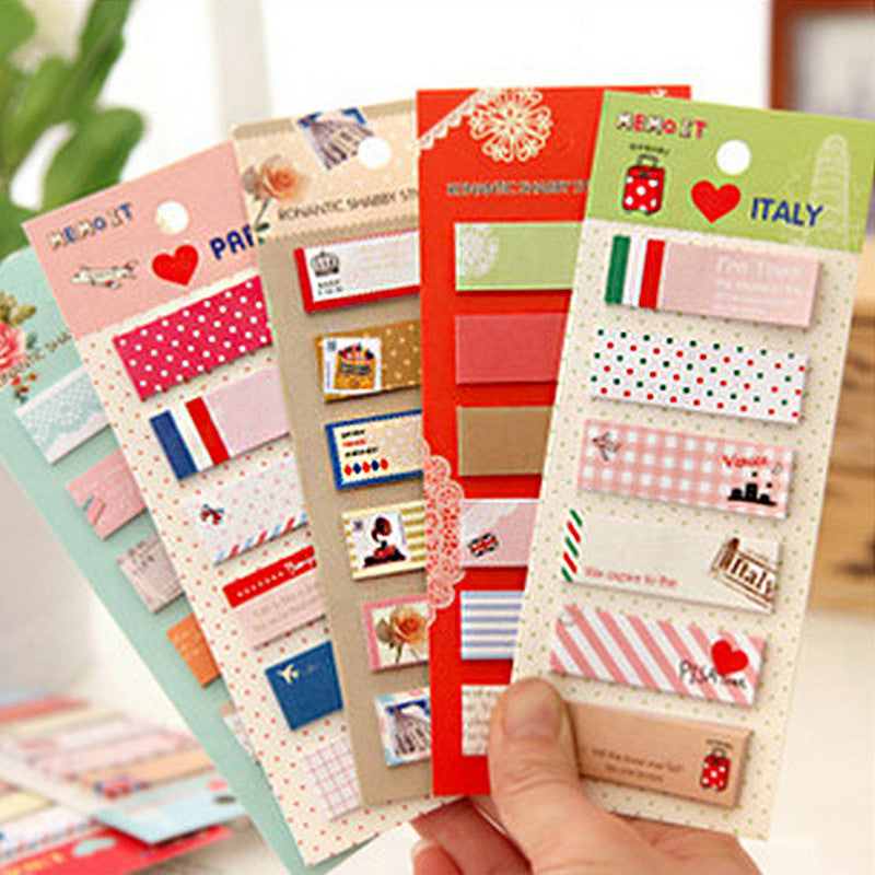 6 sets/lot Cute Mini Memo Pad Sticky Note Kawaii Paper Scrapbooking Sticker Pads Creative Korean Stationery Free shipping 327