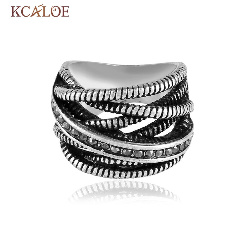 New Design Silver Plated Ring Original Authentic Zircons Micro Pave Setting Fashion Jewelry Multilayer Ring for Women