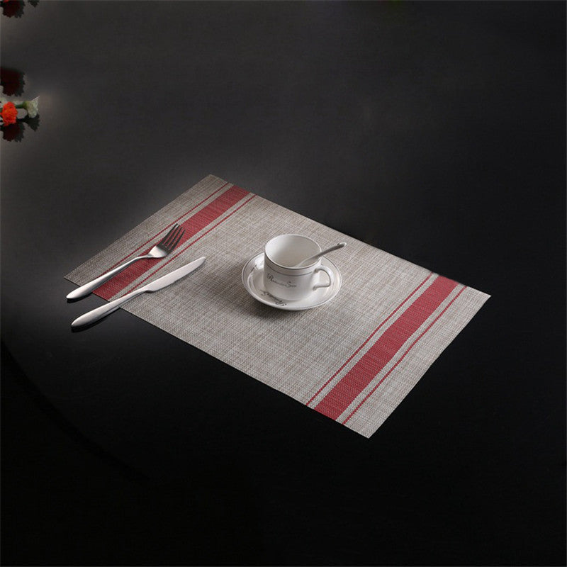 TTLIFE 4PCS/Set Placemats for Breakfast Table Place Mat Kitchen Accessories Wine Cup Mat Bar Restaurant Table Mat