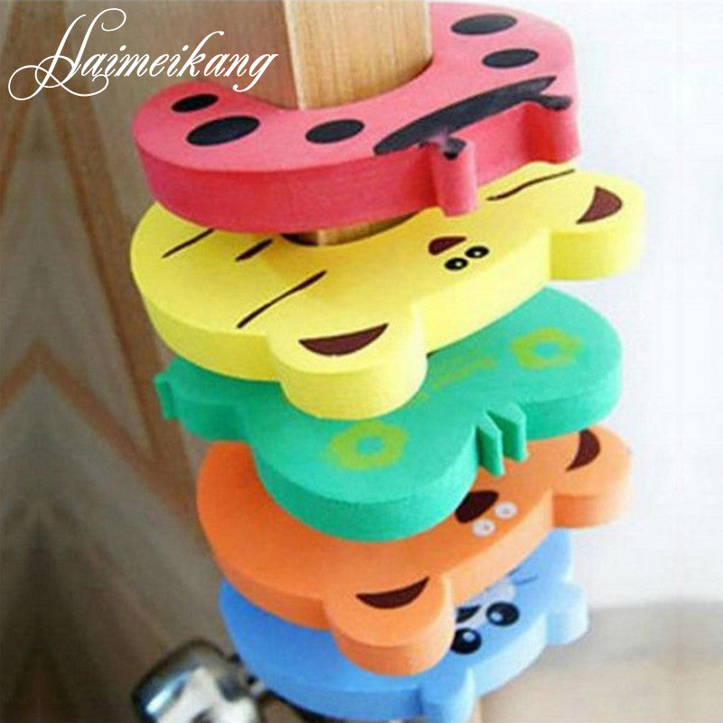 5pcs Kids Baby Cartoon Animal Jammers Stop Edge & Corner for Children Guards Door Stopper Holder lock Safety Finger Protector