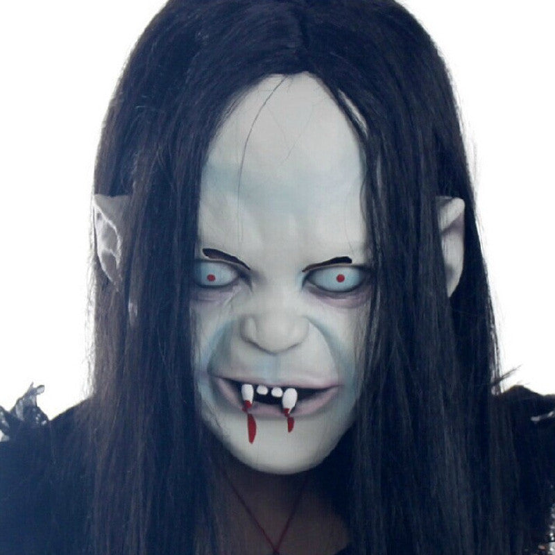 Eco-Friendly Material Halloween Mask Sadako Pullover Horror Mask Party Goods Cosplay Products
