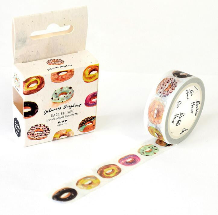 JB102  The Delicious Donut Decorative Washi Tape DIY Scrapbooking Masking Tape School Office Supply Escolar Papelaria
