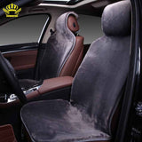 2015For 2 Front car seat covers faux fur cute car interior accessories cushion cover styling winter new plush car pad seat cover