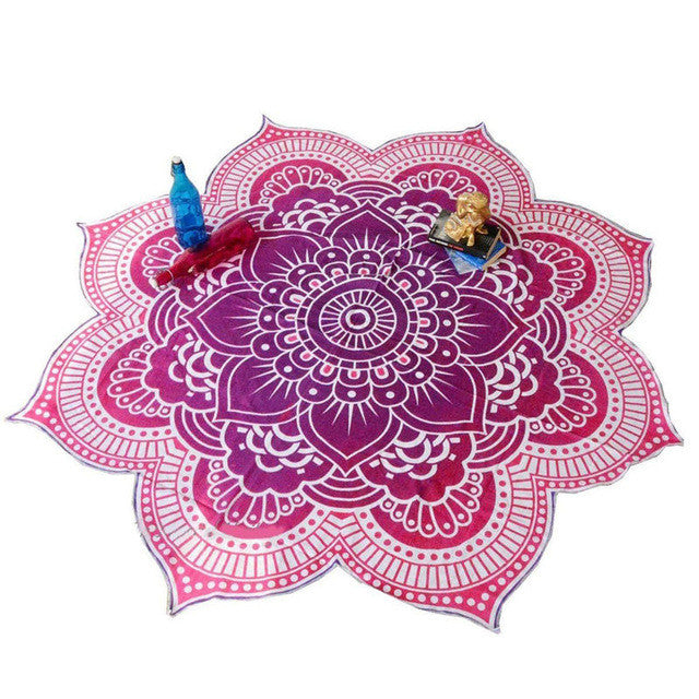 Hot Lotus Flower Indian Mandala Tapestry Decorative Wall Hanging Blanket Boho Beach Throw Towel Hippie Yoga Mat Bedspread 150CM